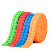 Dangshan 4 Rolls Loops Building Block Tape Roll Self-Adhesive Compatible Toy Bricks Set Kids Gift