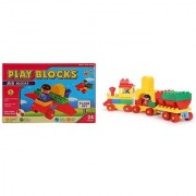Virgo Toys Play Blocks Plane Set and Junior train set (Combo)