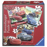 PUZZLE CARS 3 BUC IN CUTIE 25 36 49 PIESE RAVENSBURGER