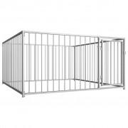 vidaXL Външна клетка за кучета, 200x200x100 см