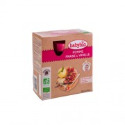 Babybio Bio almás-epres püré vaníliával 4 x 90 g