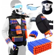 Vesta compatibila cu Nerf N-Strike Serie Elite Tactical Vest kit 45 piese Accesorii pentru Nerf N-Strike