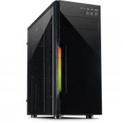 Carcasa Inter-Tech B-42, RGB, Middle Tower (Negru)