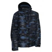 Kabát Trimm Neon fekete / kék / szürke
