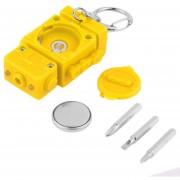 ER Lindo Con Forma De Robot Multifunción 3 En 1 LED Linterna Llavero Herramienta Destornillador