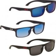 Vast Wayfarer Sunglasses(Grey, Blue)