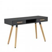 [en.casa]® Íróasztal Nürnberg design sminkasztal fésülködő asztal 75 x 120 cm szürke