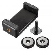 Nikon 1/4inch Tripod Mount Screw Flash Hot Shoe Adapter with Phone Clip for Nikon DSLR SLR Camera iPhone