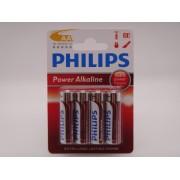 Philips LR6, AA, baterie alcalina 1.5V blister 4