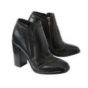 Ducanero® Ankle Boots, 6.5 - Black/Brown/Bronze