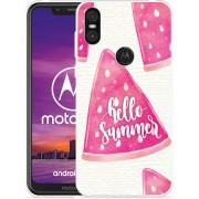 Motorola One Hoesje Summer Melon