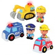 Constructive Playthings Light and Sound Chunky If I Am... Vehicles Set of 3