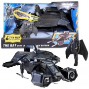 Mattel Year 2011 DC Batman Movie Series The Dark Knight Rises Electronic Vehicle Set - THE BAT with Launch and Attack Batman Missile Launchers with 2 Missiles Plus Battle Sounds (Vehicle Dimension: 12 x 6 x 7 )