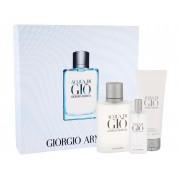 Giorgio Armani Acqua Di Gio Pour Homme 100Ml Edt 100 Ml + Edt 15 Ml + Shower Gel 75 Ml Per Uomo(Eau De Toilette)