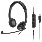 Sennheiser SC 75 USB MS Stereofonico Padiglione auricolare Nero