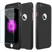 Husa Full Cover 360 folie sticla iPhone 8 Negru