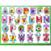 Curtis Toys Alphabet Wooden Puzzle with Grip - Type 1