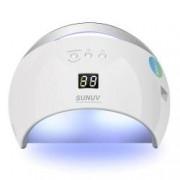 Lampa Unghii LED Unghii SunUv 21 Leduri SUN6 48W Dual UV LedProfesionala 30s60s90s Timer LCD Display White Perfect