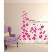 Walltola Wall Sticker- Vinyl Flowers In Pink ( Finished Size 135cm x 125cm)