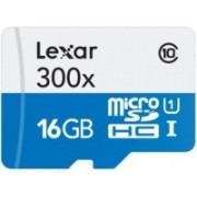 Lexar High-Performance 300x 16 GB MicroSDXC UHS Class 1 45 MB/s Memory Card