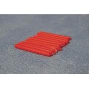 Lumanari rosii de rezerva - set 12 buc - miniaturi papusi