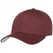 Cappellishop Spandex Flexfit Cap in rosso bordeaux, Gr. XS/S (53-55 cm)