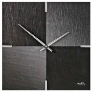 AMS 9520 Wandklok Leisteen - Aluminium