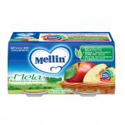 Mellin Omogeneizzati di frutta - Mela - Confezione da 200 g ℮ (2 vasetti x 100 g)