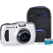 Praktica Digital Camera Luxmedia WP240 20 Megapixel Silver + 32GB Micro SD Card + Case