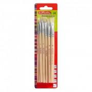 Pensule lemn drepte numar 4-12 set