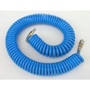 Furtun spiralat conectori aer comprimat din PU 10 x 6,5mm, 10m, 11-34 bari, ADLER AD0140,87