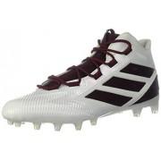 Adidas Men's Freak Carbon Mid Football Shoe White/Maroon/Collegiate Burgundy 4 Medium US