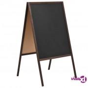 vidaXL Dvostrana samostojeća ploča od cedrovine 60 x 80 cm