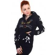 kapucnis pulóver női - Cat - BANNED - HBN016