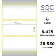 Etichette SQC - polipropilene trasparente (bobina), formato 70 x 30