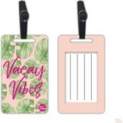 Nutcaseshop Vacay Vibes With Green Leaves Luggage Tag(Multicolor)