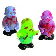 Lot Of 12 Assorted Design Wind Up Walking Zombie Toys