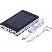 EY 20000mAh Portable Emergency Super Solar Charger Dual USB External Battery Power Bank For Mobile Phones & Tablets-black