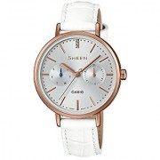 Casio Analog Silver Dial Womens Watch-SX197 (SHE-3054PGL-7AUDR)