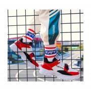 Calzado deportivo casual para hombre en rojo y blanco
