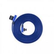 Sbox Cavo Micro USB Angolato 90° USB2.0/MicroUsb 1.5m Blu