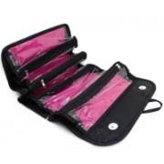 Indianmarina Roll n Go cosmetic bag Travel Toiletry Kit(Black)