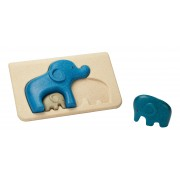 Puzzle din lemn cu elefanti
