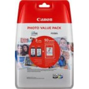 Canon Value Pack nero / differenti colori PG-545XL CL-546XL Photo Value Pack 8286B006 2 cartucce d'inchiostro: PG-545XL + CL-546XL + 50 Blatt 10 x 15 cm carta foto glossy