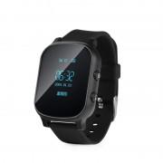 Ceas inteligent pentru copii cu telefon si localizare GPS GW700 Negru