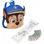 Rucsac din material Paw Patrol Chase si set de creioane colorate