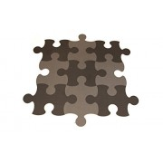 IncStores Puzzle Piece Mats Interlocking Foam Kids Play Room Tiles 9 Pack (Grey/Black 5 Black 4 Grey)