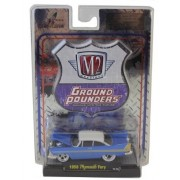 M2 Ground Pounders '1958 Plymouth Fury' Blue and White 1:64 Scale Die Cast Car