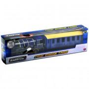 Gőzmozdony és vagon hanggal - kék Teamsterz