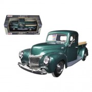 1940 Ford Pickup Red 1:24 Diecast Model Car Motormax